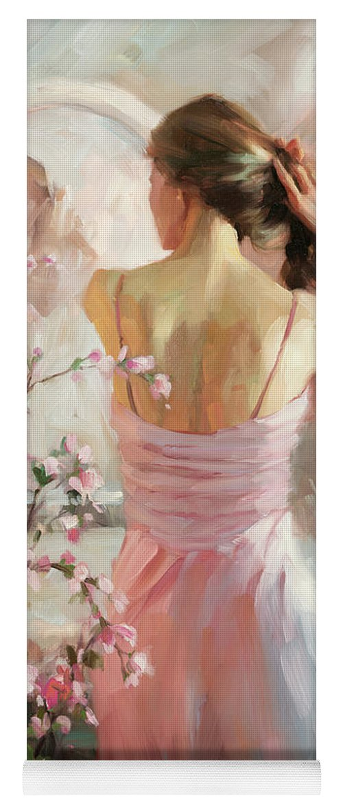 Woman Yoga Mat featuring the painting The Evening Ahead by Steve Henderson