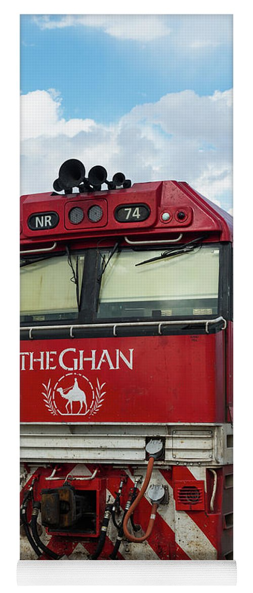 2017 Yoga Mat featuring the photograph The Famed Ghan Train by Andrew Michael