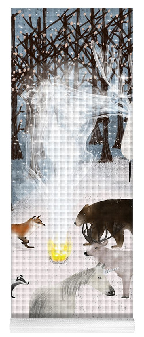 Unicorns Yoga Mat featuring the painting The Forest Guardians by Bri Buckley