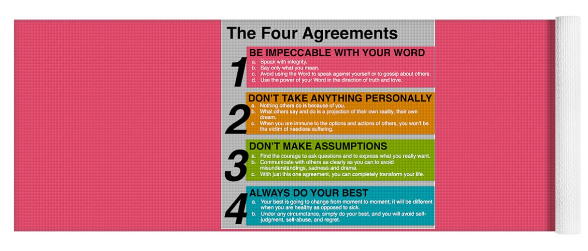 The Four Agreements Yoga Mat For Sale By Isioma Okwezime