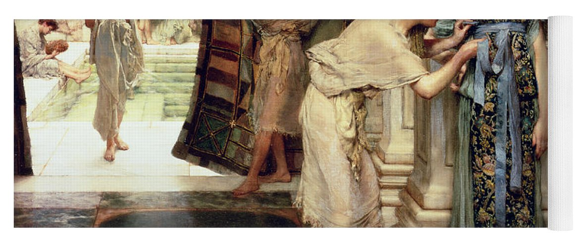 The Yoga Mat featuring the painting The Frigidarium by Sir Lawrence Alma-Tadema