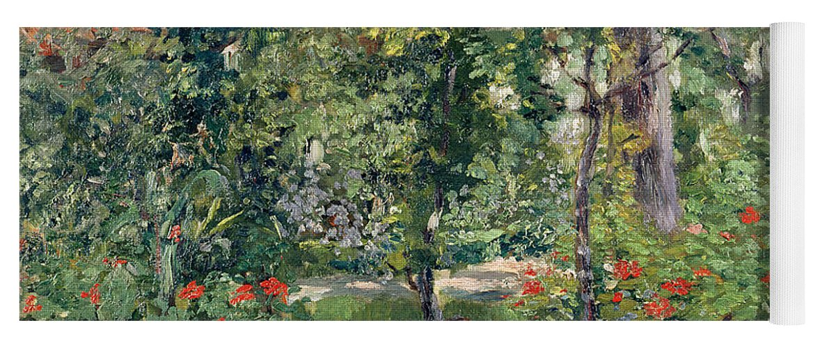 Garden Yoga Mat featuring the painting The Garden At Bellevue by Edouard Manet