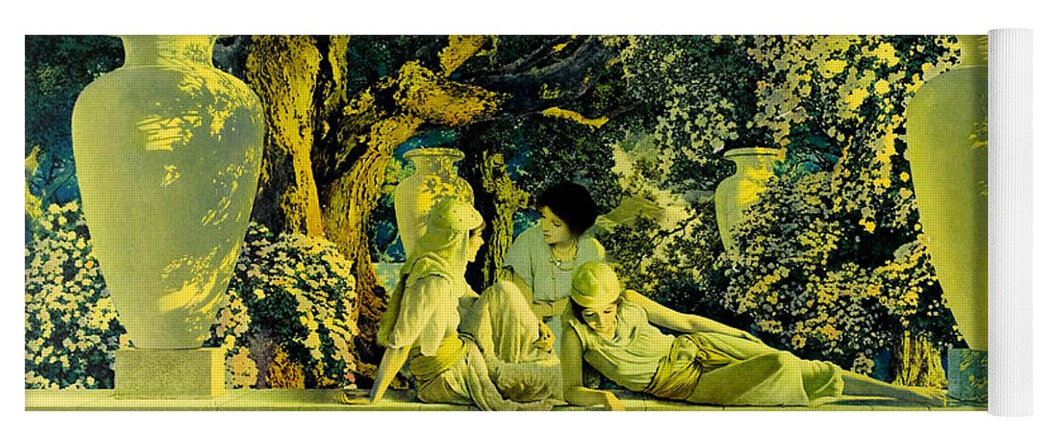 The Garden Of Allah Yoga Mat for Sale by Maxfield Parrish