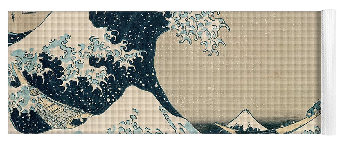 Wave Yoga Mat featuring the painting The Great Wave of Kanagawa by Hokusai