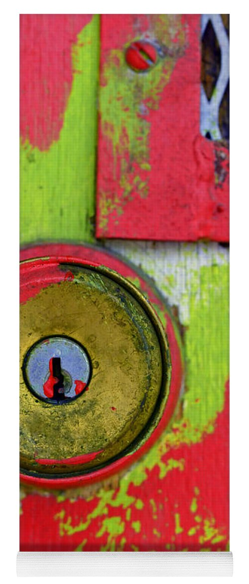 Green Yoga Mat featuring the photograph The Green and Red Door by Tara Turner
