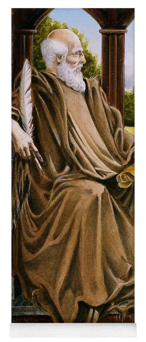 Wise Man Yoga Mat featuring the painting The Hermit Nascien by Melissa A Benson