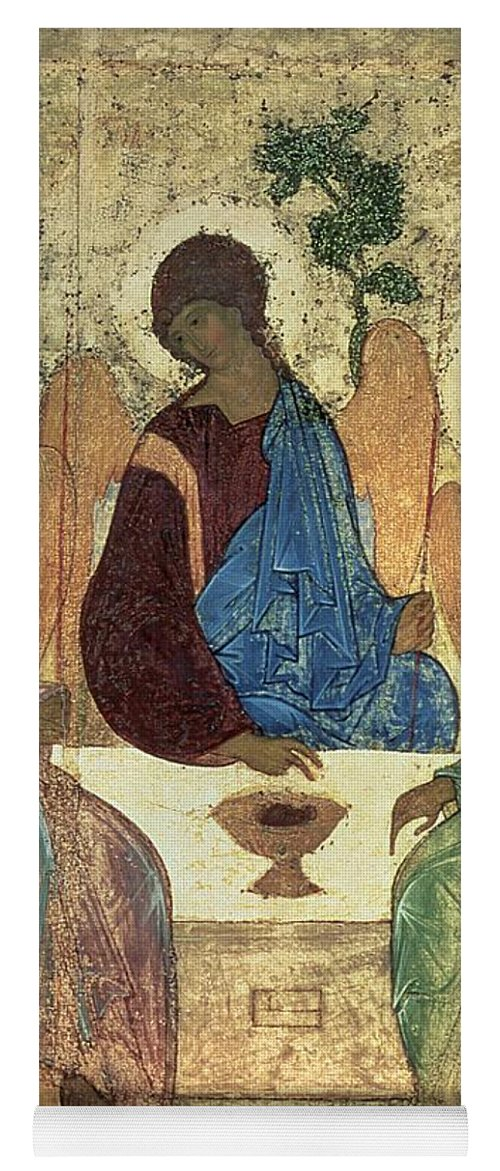 The Yoga Mat featuring the painting The Holy Trinity by Andrei Rublev