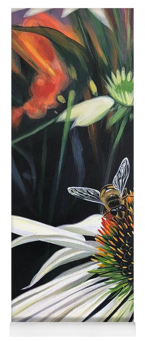 Daisy Yoga Mat featuring the painting The Honeythief by Hunter Jay