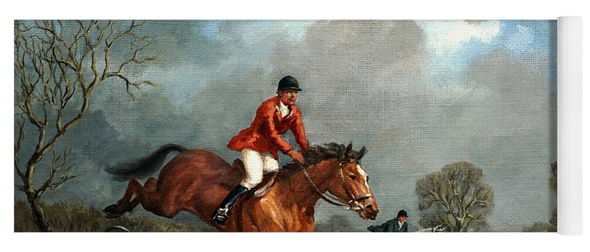 Fox Hunting Yoga Mat featuring the painting The Hunt by Richard Willis