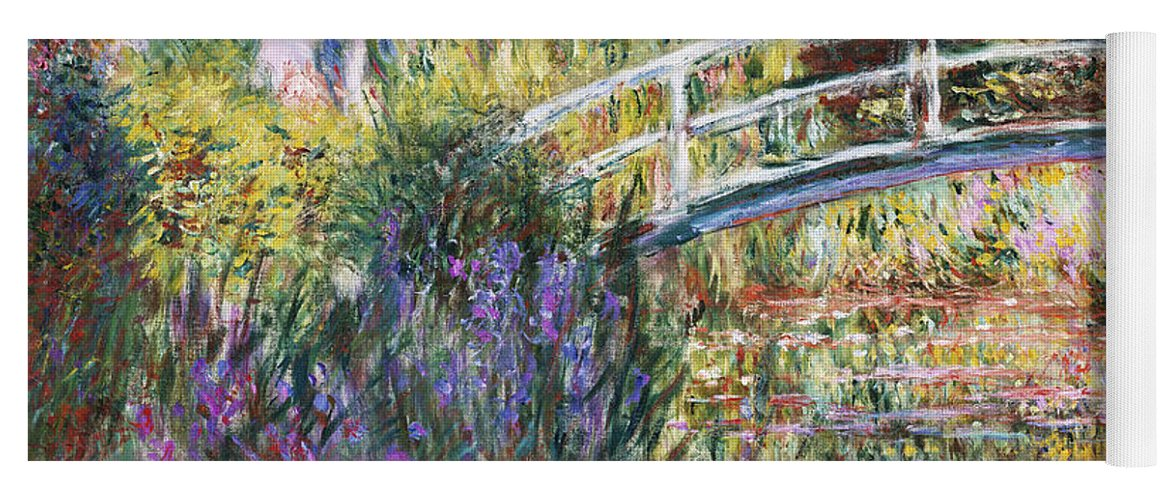 Monet Yoga Mat featuring the painting The Japanese Bridge by Claude Monet