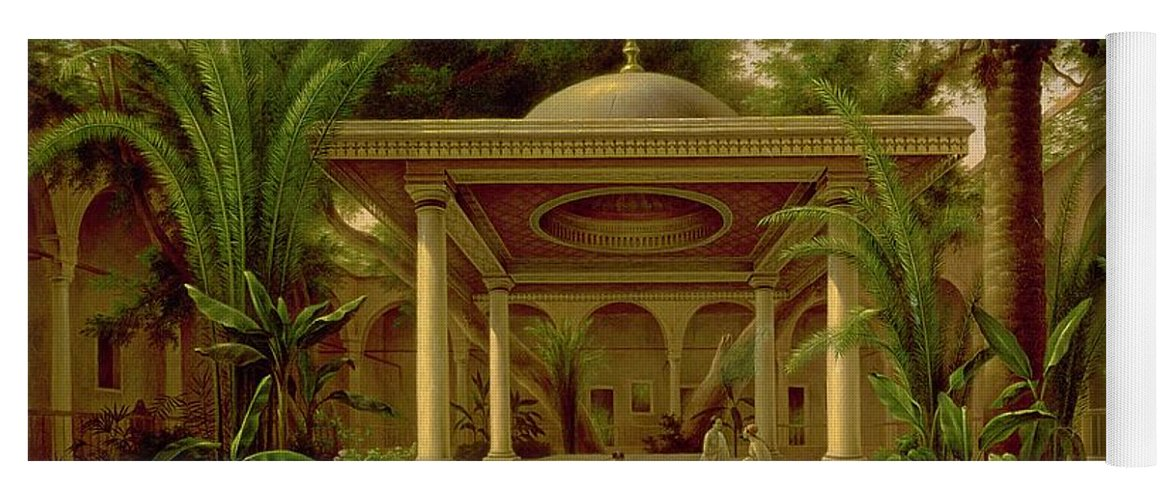 The Yoga Mat featuring the painting The Khabanija Fountain In Cairo by Grigory Tchernezov
