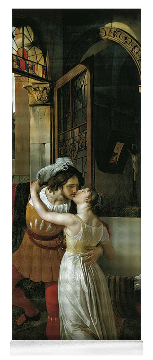 Kiss Yoga Mat featuring the painting The Last Kiss Of Romeo And Juliet by Francesco Hayez