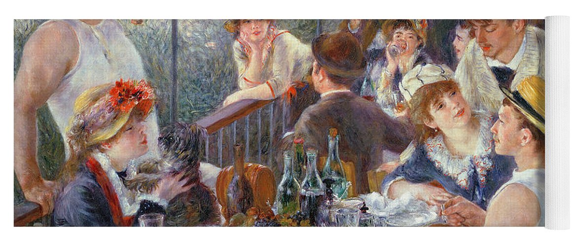 The Yoga Mat featuring the painting The Luncheon of the Boating Party by Pierre Auguste Renoir
