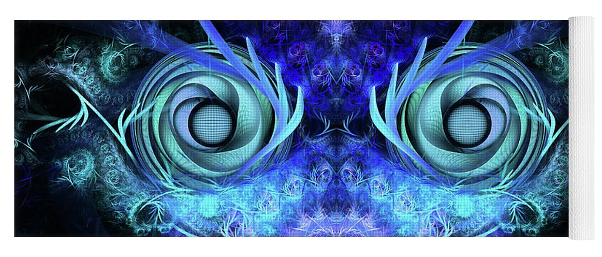 Mask Yoga Mat featuring the digital art The Mask by John Edwards