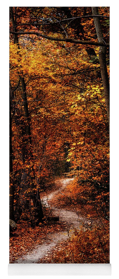 Landscape Yoga Mat featuring the photograph The Narrow Path by Scott Norris
