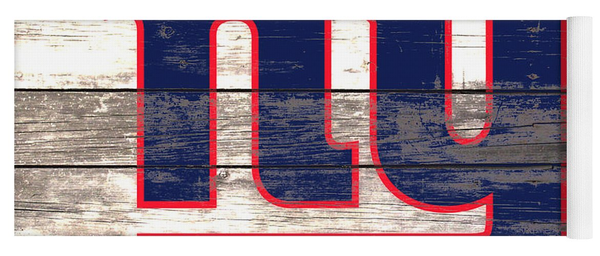 The New York Giants Yoga Mat featuring the mixed media The New York Giants 3i     by Brian Reaves