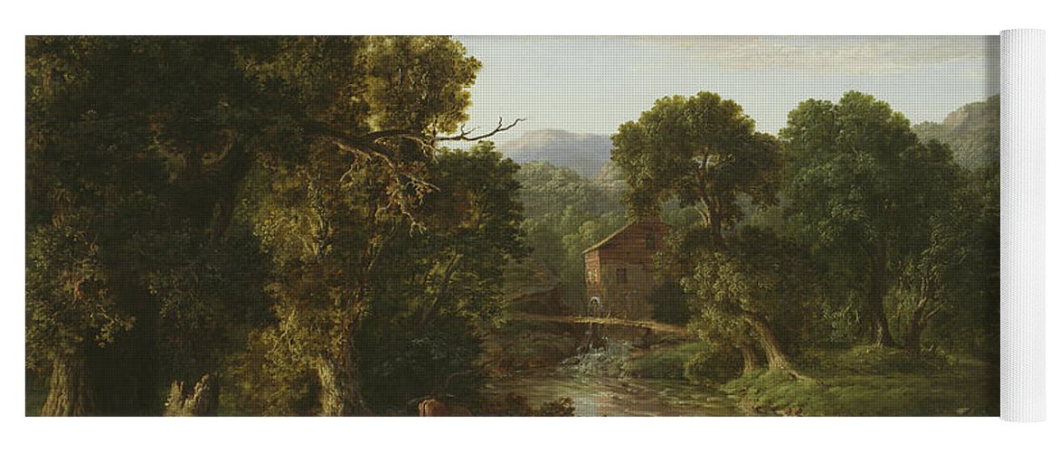The Old Mill Yoga Mat For Sale By George Inness