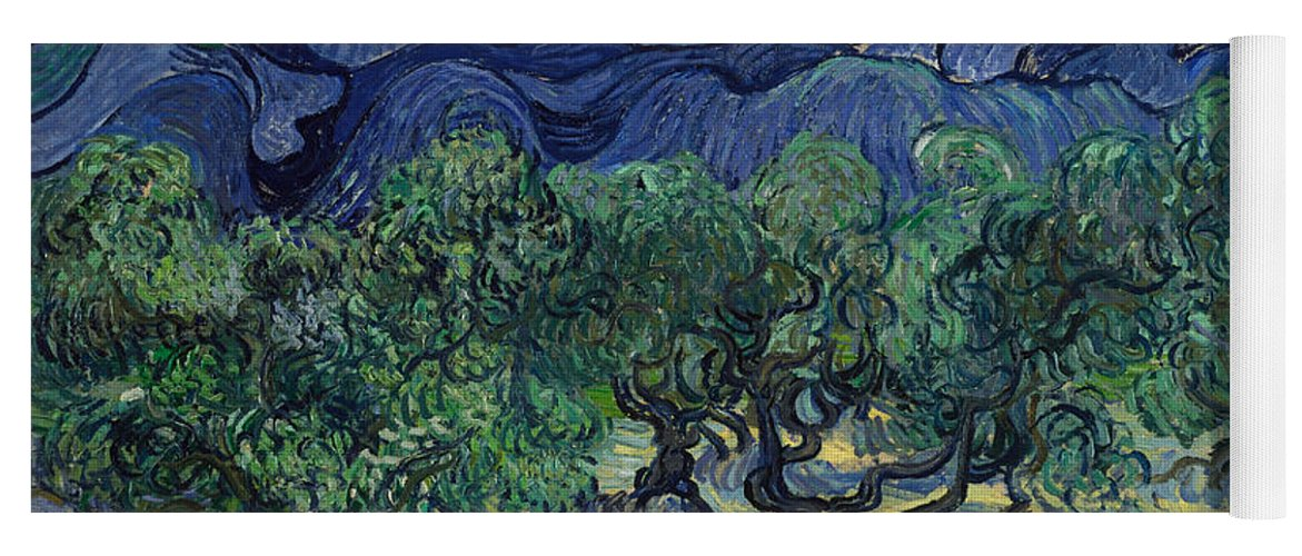 Van Gogh Yoga Mat featuring the painting The Olive Trees by Vincent van Gogh