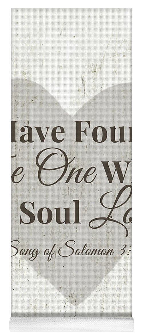 Scripture Yoga Mat featuring the digital art The One Whom My Sould Loves- Art By Linda Woods by Linda Woods