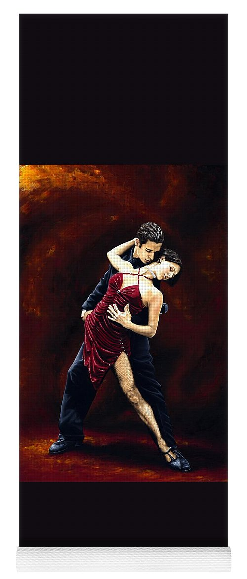 Tango Yoga Mat featuring the painting The Passion of Tango by Richard Young