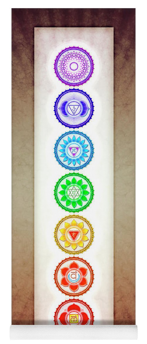 The Seven Chakras Series 6 Color Variant Warm Brown Yoga Mat For Sale By Dirk Czarnota