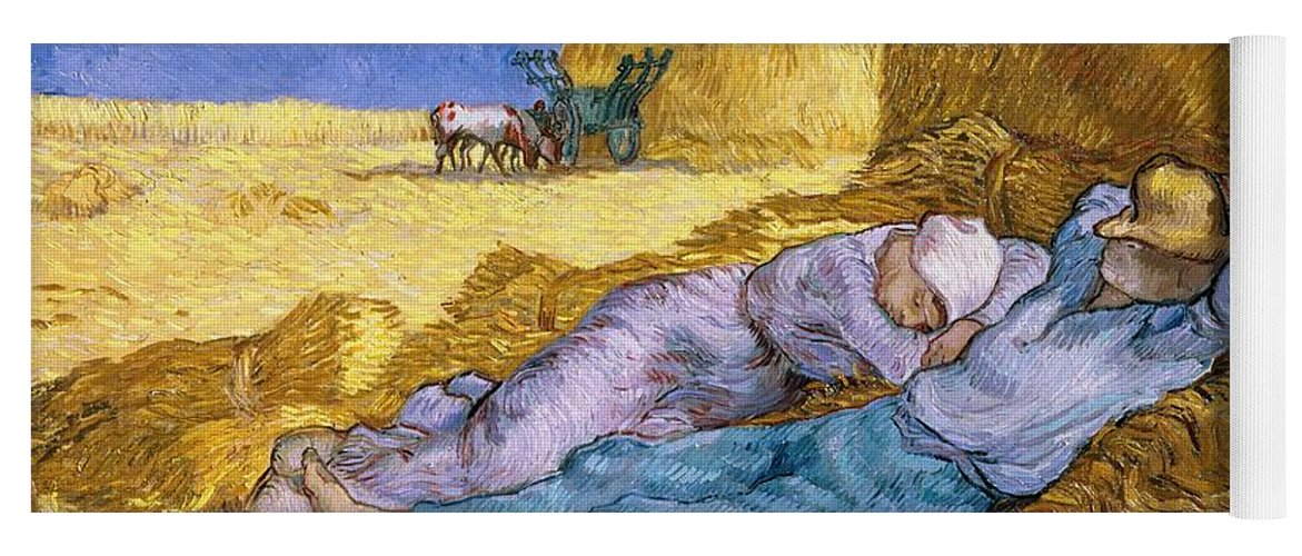 Noon Yoga Mat featuring the painting The Siesta by Vincent Van Gogh