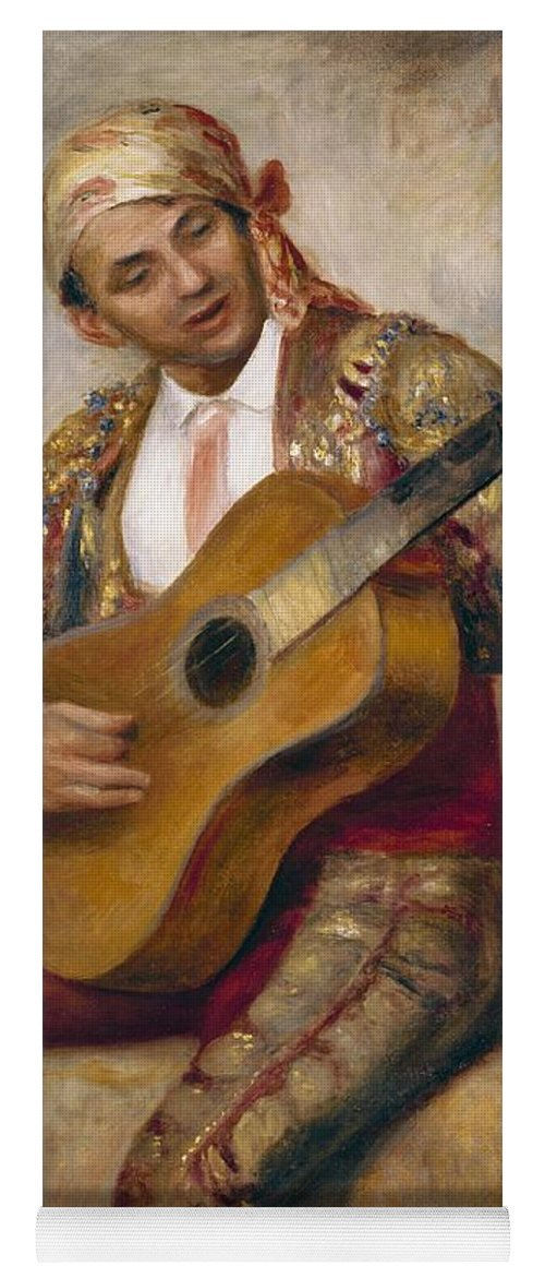The Yoga Mat featuring the painting The Spanish Guitarist by Pierre Auguste Renoir
