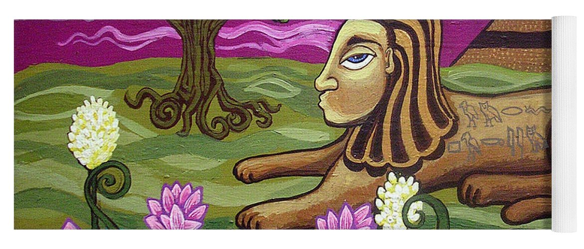 Egypt Yoga Mat featuring the painting The Sphinx by Genevieve Esson