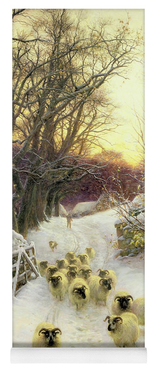 Sunset Yoga Mat featuring the painting The Sun Had Closed The Winter's Day by Joseph Farquharson