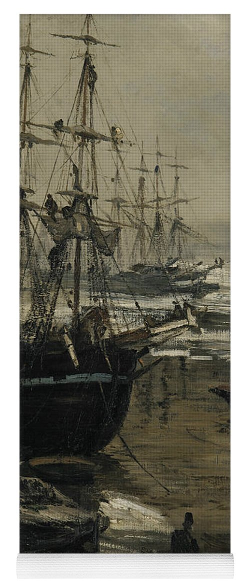 19th Century American Painters Yoga Mat featuring the painting The Thames In Ice by James Abbott McNeill Whistler