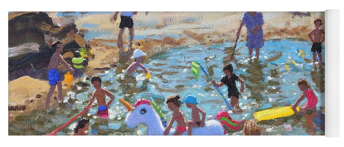 Unicorn Yoga Mat featuring the painting The Unicorn, Tenby by Andrew Macara