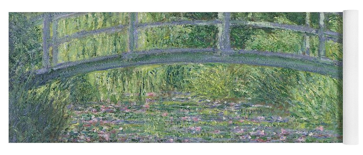 The Yoga Mat featuring the painting The Waterlily Pond by Claude Monet