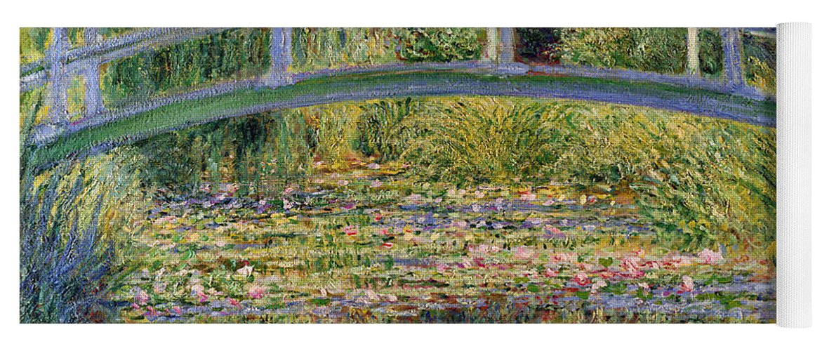 The Yoga Mat featuring the painting The Waterlily Pond with the Japanese Bridge by Claude Monet