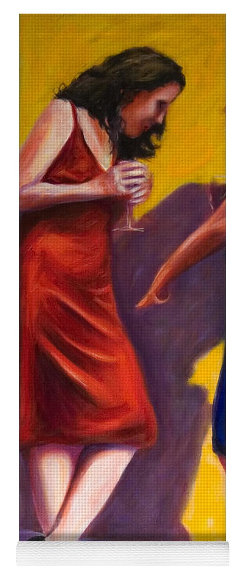 Figurative Yoga Mat featuring the painting There by Shannon Grissom