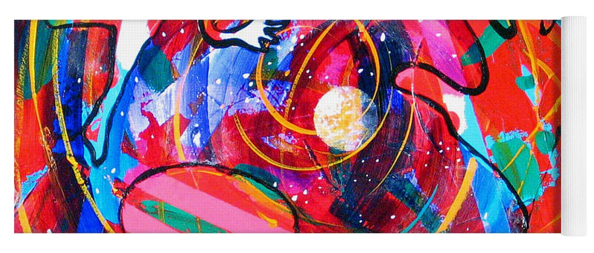 Future Yoga Mat featuring the painting This Time This Place by Rollin Kocsis