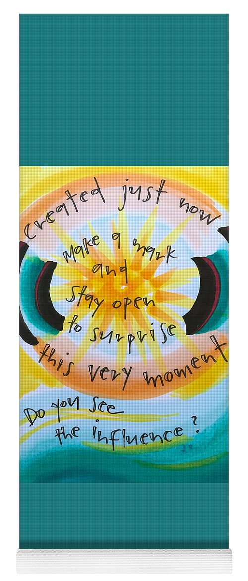 Creativity Yoga Mat featuring the painting This Very Moment by Vonda Drees
