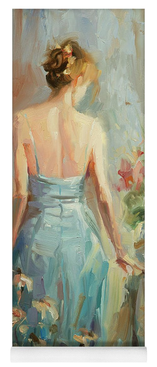 Woman Yoga Mat featuring the painting Thoughtful by Steve Henderson