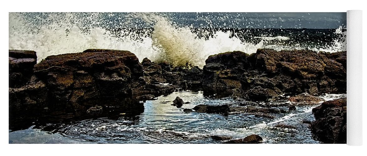 Waves Yoga Mat featuring the photograph Tide Coming In by Christopher Holmes