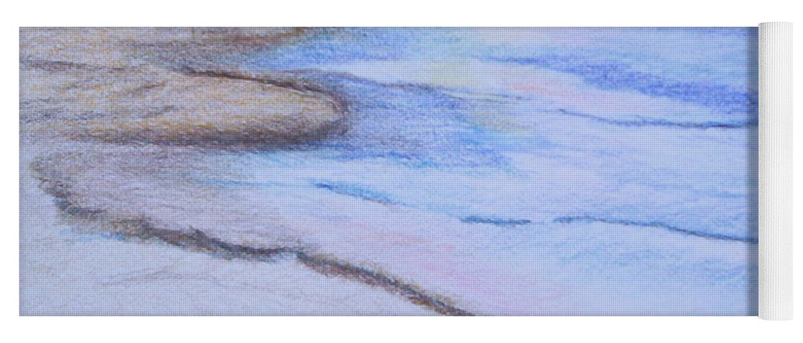 Landscape Yoga Mat featuring the drawing Tide is Out by Suzanne Udell Levinger