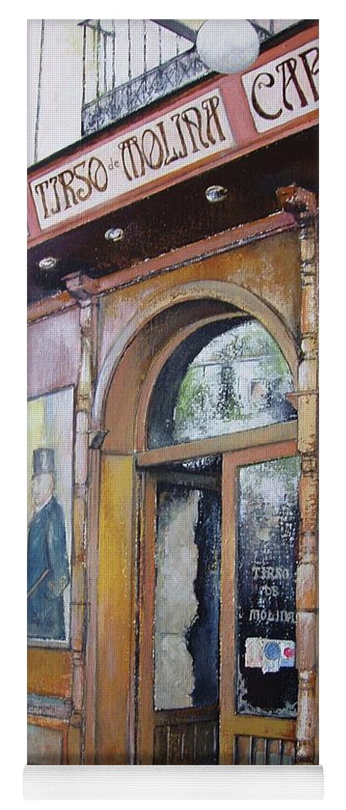 Tirso Yoga Mat featuring the painting Tirso De Molina Old Tavern by Tomas Castano