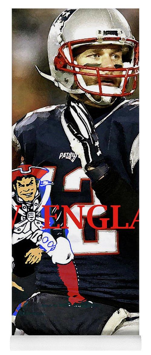 Tom Brady Number 12 New England Patriots Captain America Yoga Mat