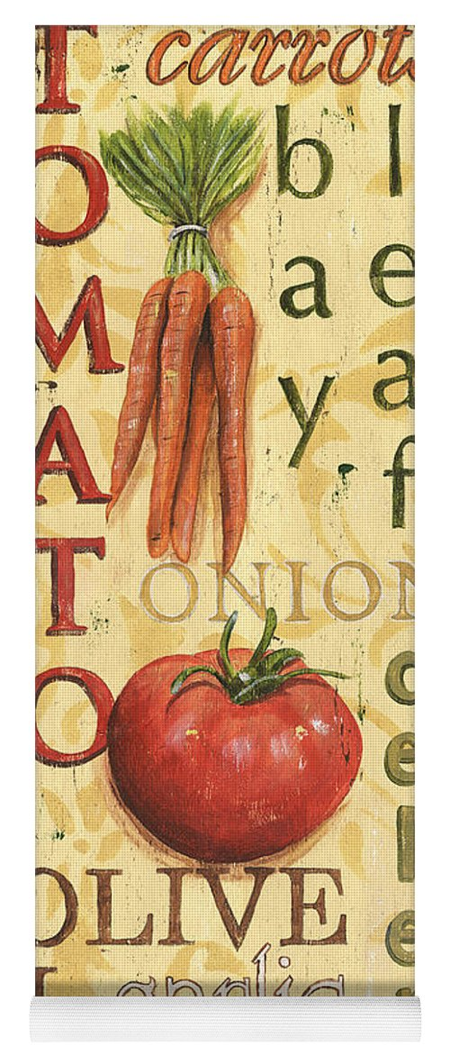 Kitchen Yoga Mat featuring the painting Tomato Soup by Debbie DeWitt