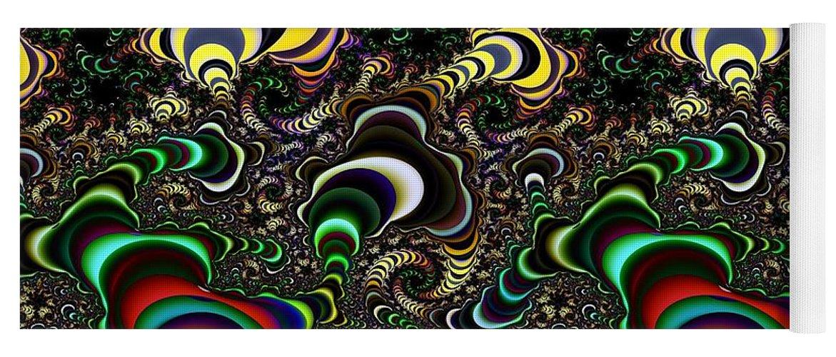 Torus Yoga Mat featuring the digital art Torus Spirals by Ron Bissett