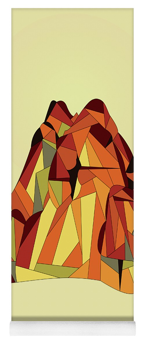Abstract Yoga Mat featuring the digital art Touching The Void by Absentis Designs