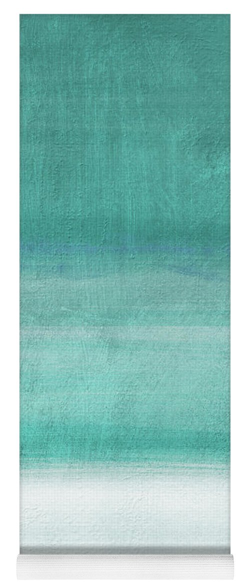 Abstract Yoga Mat featuring the mixed media Tranquil Horizon- Art By Linda Woods by Linda Woods