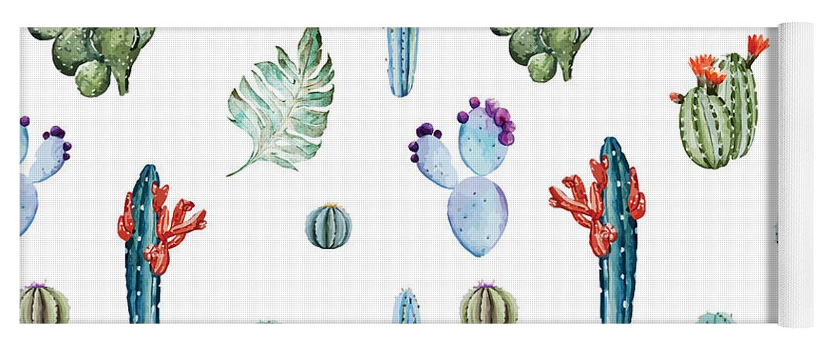 Summer Yoga Mat featuring the painting Tropical Forever 2 by Mark Ashkenazi