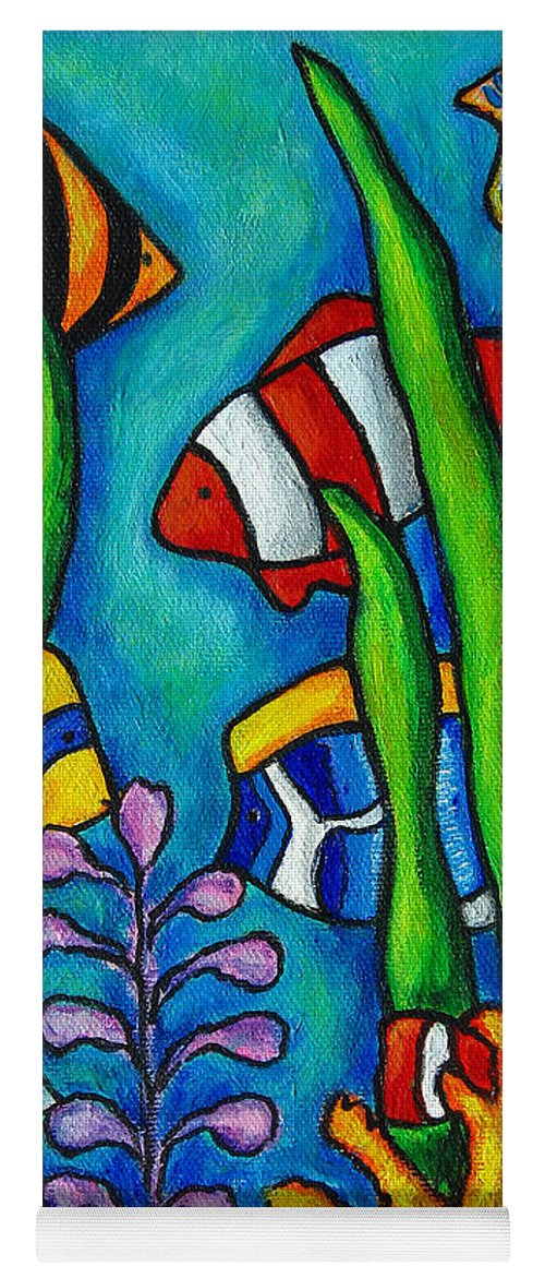 Tropical Yoga Mat featuring the painting Tropical Gems by Lisa Lorenz