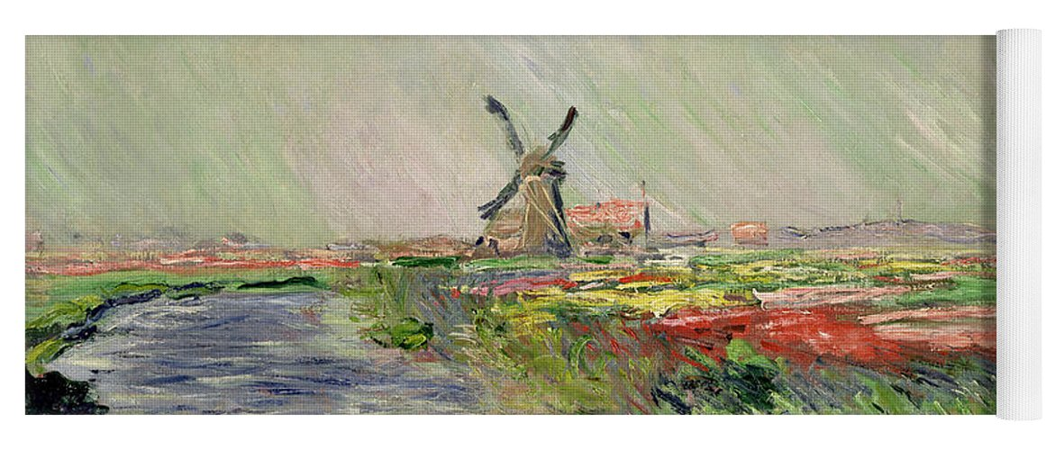 Tulip Yoga Mat featuring the painting Tulip Field In Holland by Claude Monet