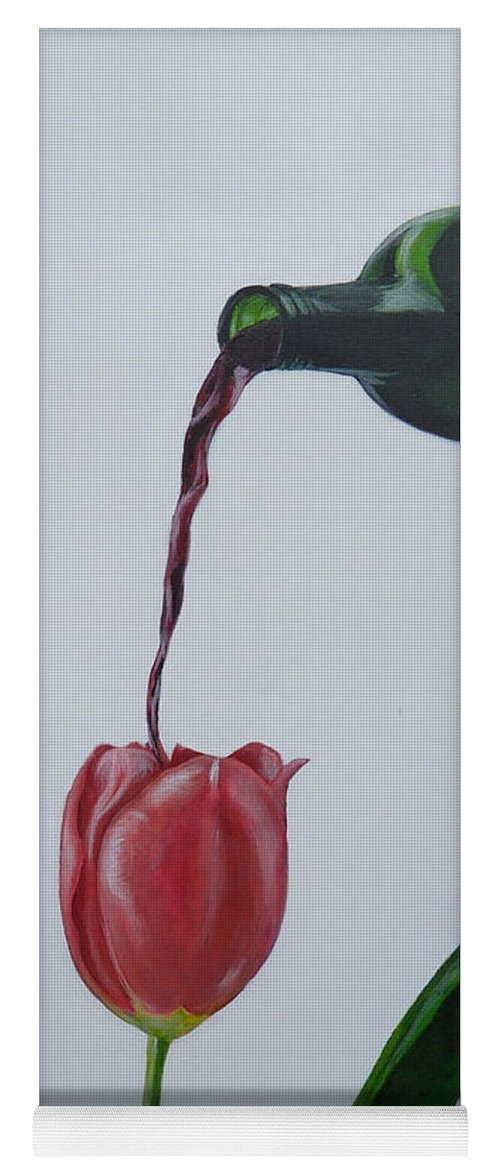 Tulip Yoga Mat featuring the painting Tulip by Travis Day