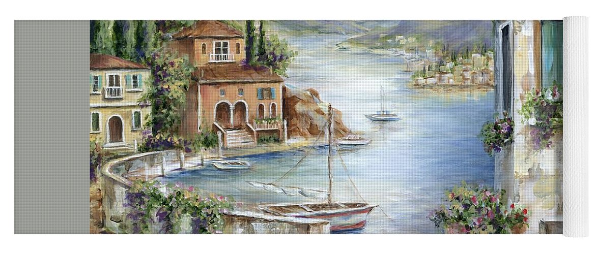 Tuscany Yoga Mat featuring the painting Tuscan Villas By The Sea II     I by Marilyn Dunlap